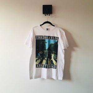 BEATLES Band T-Shirt Top Large